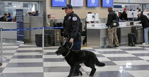 AP photo of airport security
